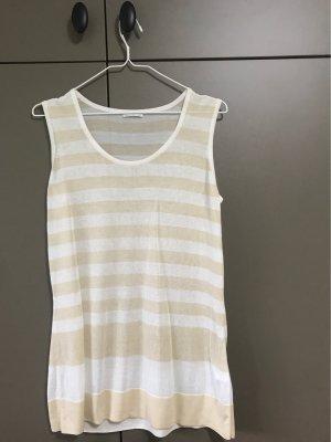 Brax Koszulka w paski kremowy-w kolorze białej wełny