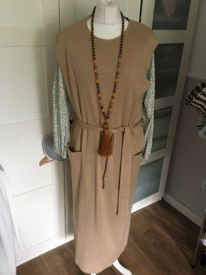 Zara Gebreide jurk beige