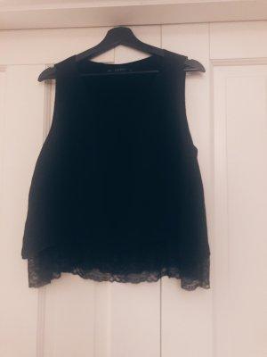 Zara Top met franjes zwart