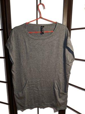 Ärmelloses Viskose Shirt mit Bauchtasche Gr. L