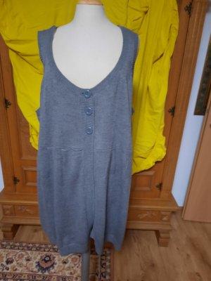 okay Gilet long tricoté gris clair