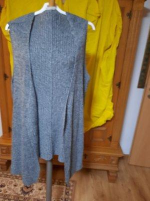 Janina Gilet long tricoté gris