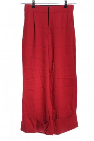 ÁERON Bandplooibroek rood casual uitstraling