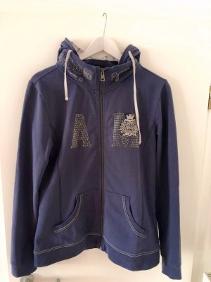 Aeronautica Militare Sweat Jacket dark blue