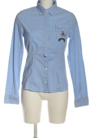 Aeronautica Militare Shirt met lange mouwen blauw zakelijke stijl