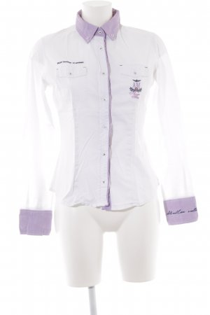 Aeronautica Militare Long Sleeve Shirt white-mauve casual look