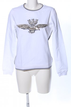 Aeronautica Militare Longsleeve white-brown themed print casual look