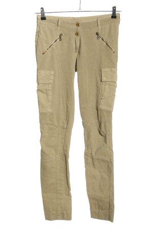 Aeronautica Militare Pantalone jersey crema stile casual