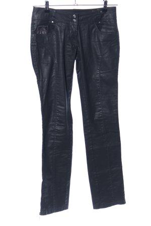 Aeronautica Militare Stretch jeans zwart wetlook
