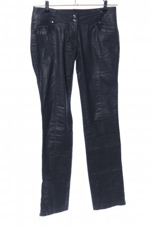 Aeronautica Militare Stretch Jeans black wet-look