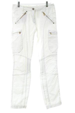 Aeronautica Militare Stretch broek wit casual uitstraling