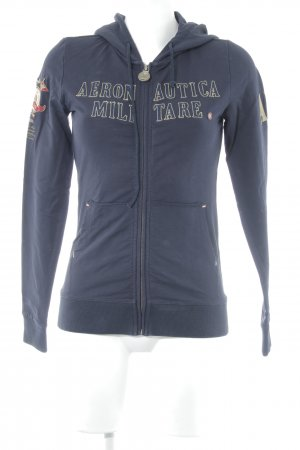 Aeronautica Militare Sweat Jacket dark blue athletic style