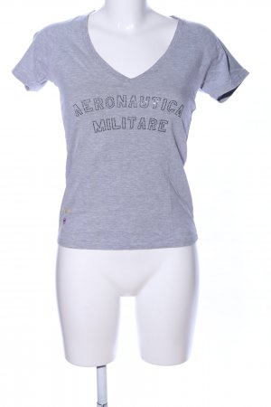 Aeronautica Militare T-Shirt light grey flecked casual look