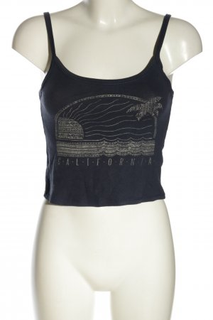 Aeropostale Cropped Top blue-natural white themed print casual look