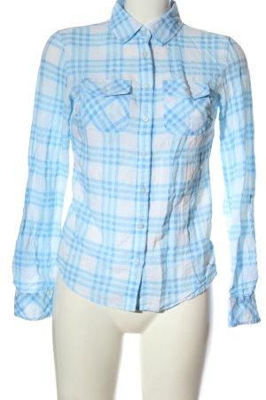 Aeropostale Camicia blusa bianco-blu motivo a quadri stile casual