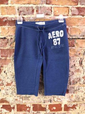 Aeropostale Pantalone da ginnastica blu scuro-bianco