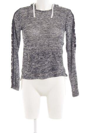 Aeropostale Hooded Sweater dark blue-natural white fluffy