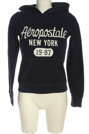 Aeropostale Hooded Sweatshirt blue-white printed lettering casual look