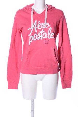 Aeropostale Kapuzensweatshirt pink Schriftzug gedruckt Casual-Look