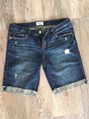 Aeropostale Short en jean bleu foncé-bleu coton