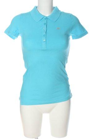 Aeropostale Camiseta tipo polo azul look casual