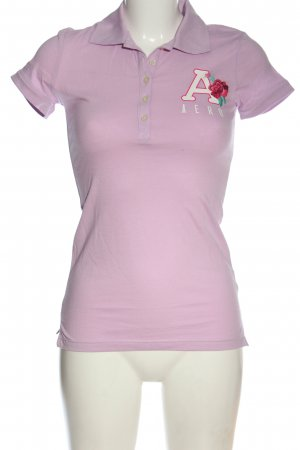 Aeropostale Polo-Shirt lila Motivdruck Casual-Look