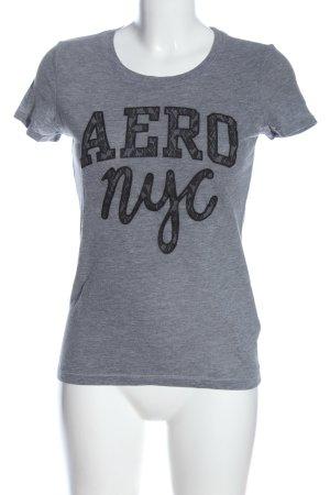 Aeropostale Shirt met print lichtgrijs-zwart gestippeld casual uitstraling