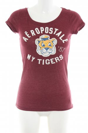 Aeropostale Print-Shirt rot-weiß meliert Casual-Look