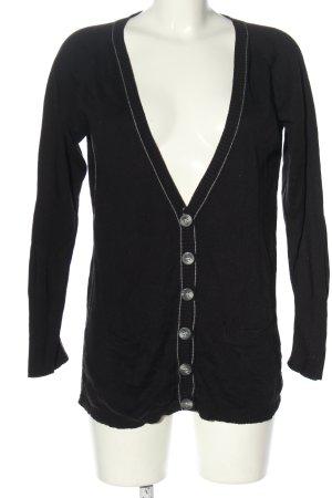 Aeropostale Veste en tricot noir style décontracté