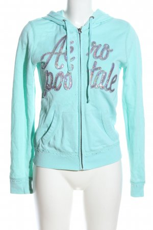 Aeropostale Sweat Jacket turquoise embroidered lettering casual look