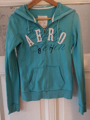 Aeropostale Hoody light blue-white cotton