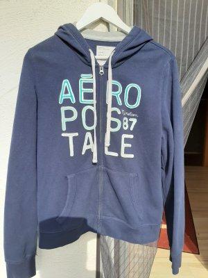 Aeropostale Sudadera con capucha azul oscuro Algodón