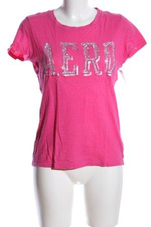 Aeropostale T-Shirt pink Schriftzug gedruckt Casual-Look