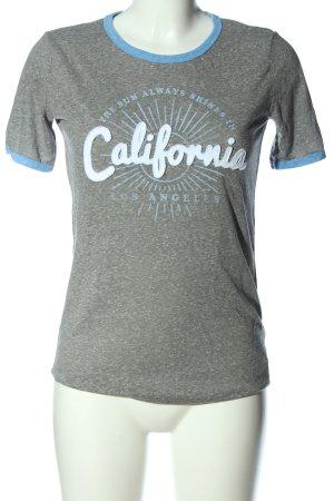 Aeropostale T-shirt grigio chiaro-blu puntinato stile casual