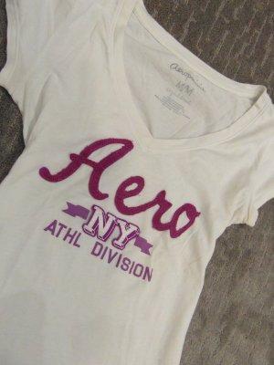 Aeropostale T-shirt bianco-viola