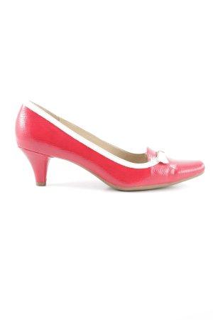 Aerosoles Zapatos de punta rojo-blanco elegante