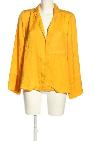AÉRYNE Blouse oversized jaune primevère style décontracté