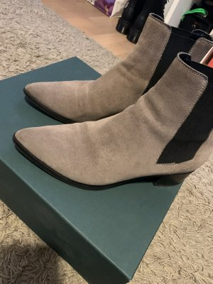 aeyde Botines Chelsea taupe-negro