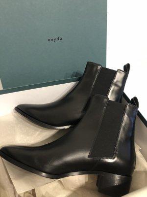 aeyde Slip-on laarzen zwart Leer
