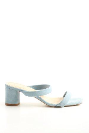 aeyde Sandały na obcasie z rzemykami niebieski W stylu casual