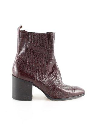 aeyde Wciągane buty za kostkę brązowy Zwierzęcy wzór W stylu casual