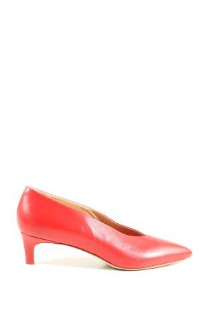 aeyde Czółenka ze spiczastym noskiem czerwony W stylu casual