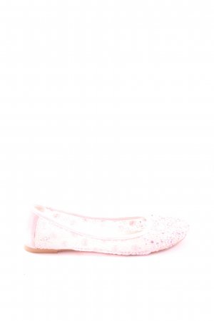 AF Ballerinas with Toecap pink weave pattern casual look