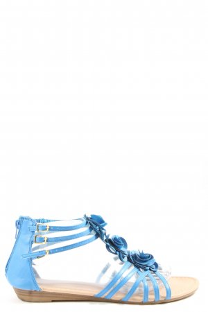 AF Sandalias cómodas azul look casual