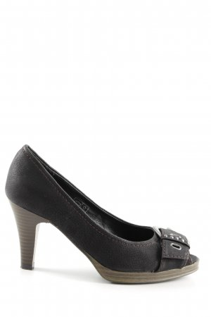 AF Peeptoe Pumps schwarz Business-Look