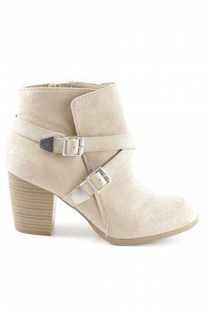 AF Zipper Booties cream business style