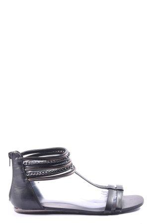 AF Sandalen met bandjes zwart casual uitstraling