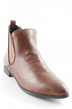AF Slip-on Booties bronze-colored leather