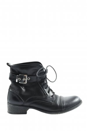 AF Lace-up Booties black casual look