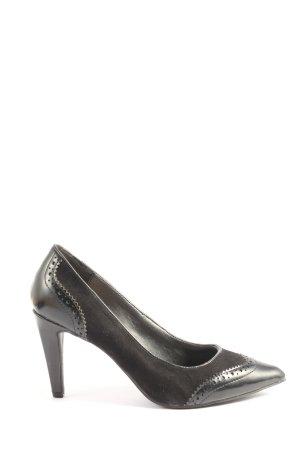 AF Zapatos de punta negro estilo «business»